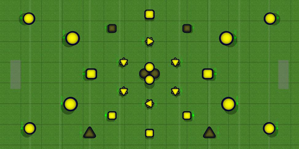 Metatrons Cube Paintball Field Image